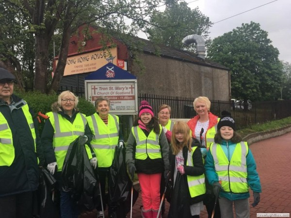 BCDC and Robroyston Park Clean Up 20th May 2017