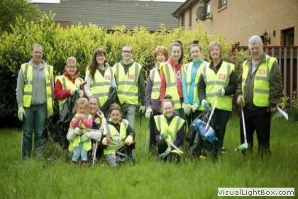 BCDC and Robroyston Park Clean Up 24th May 2014